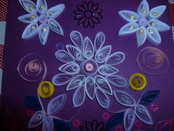 carte fleur quilling
