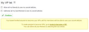 Shhh!  Make your blog secret!