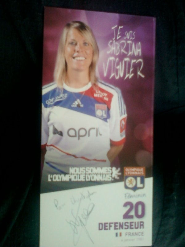 autographe de Sabrina Viguier