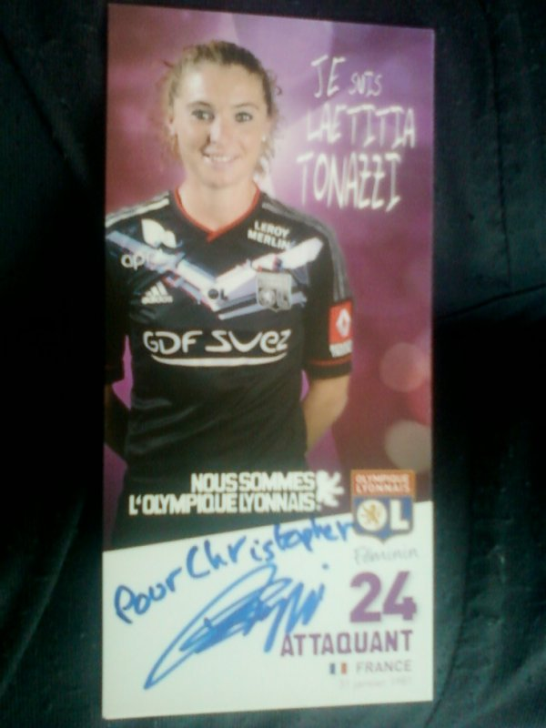autographe de Laetitia Tonazzi