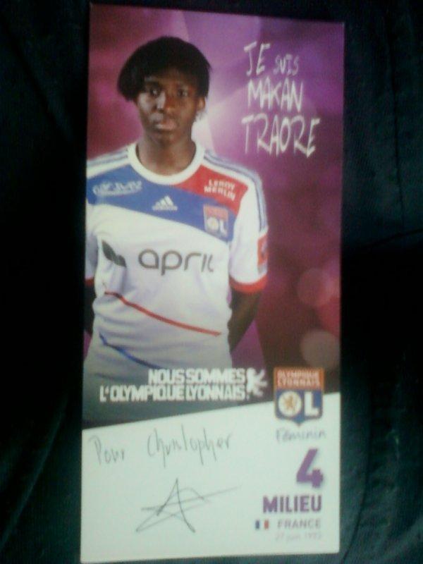 autographe de Makan Traoré