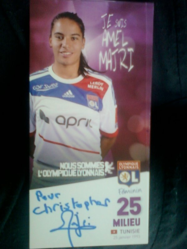 autographe de Amel Majri