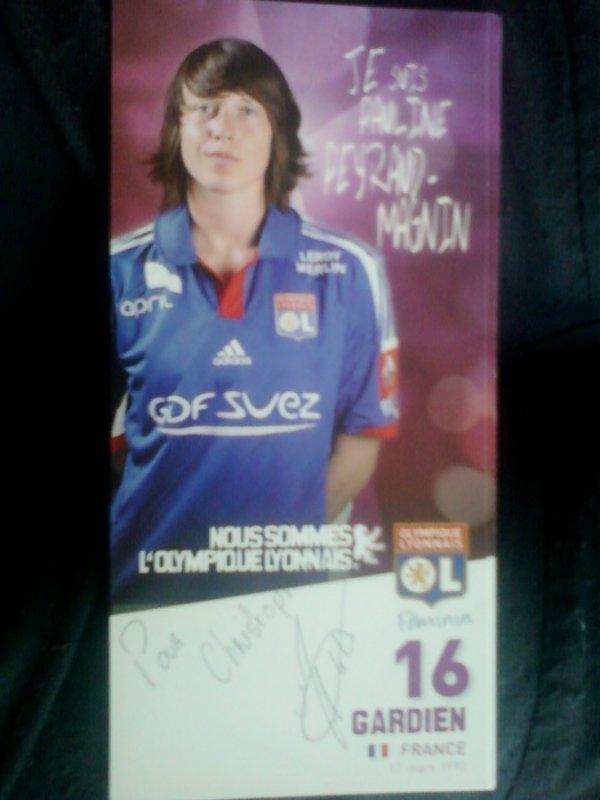 autographe de Pauline Peyraud Magnin
