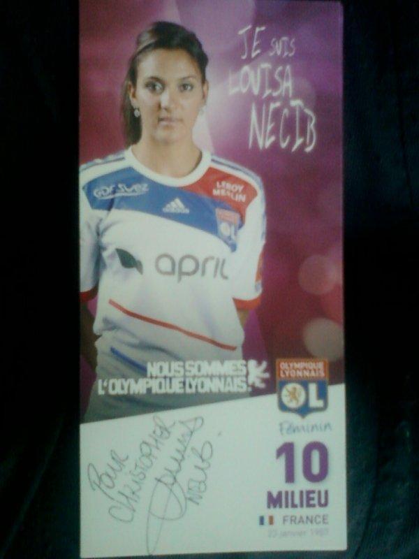 autographe de Louisa Necib