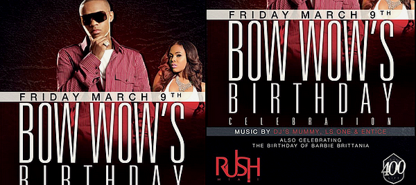 Bow Wow - Official 25th Birthday Party @ Club Rush Mar 08th '12 Posted by: Aurelie Filed Under: Appearances - Party