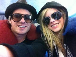 David with Avril Lavigne