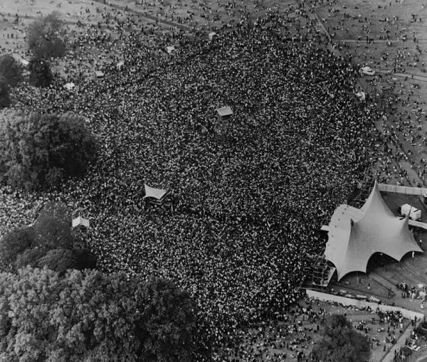 Concert gratuit à Hyde Park, 18 septembre 1976.