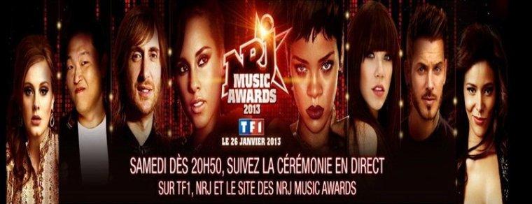 Le samedi 26 janvier 2013 20H50 les NRJ Music Awards en direct sur Tf1
