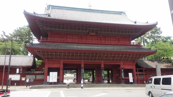 The gate of Zojoji