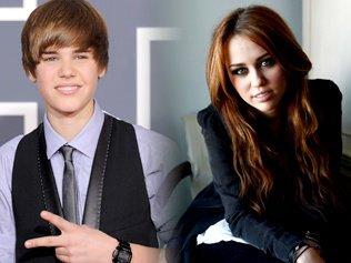 Miley Cyrus contre Justin Bieber