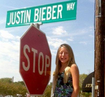 Justin Bieber Way- découvrez la photo