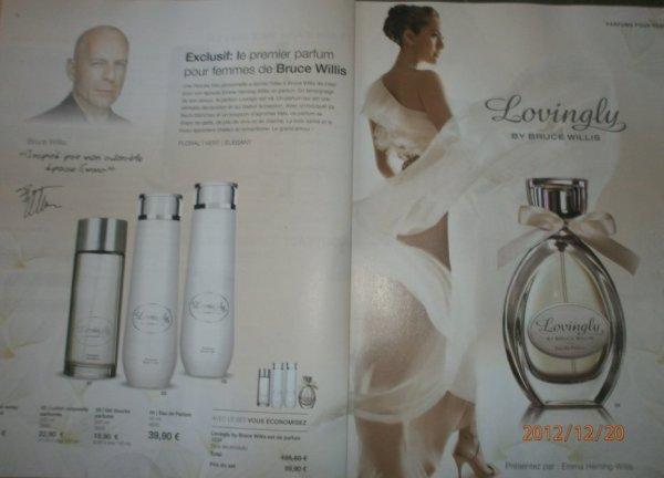 """Exclusif : le premier parfum pour femmes de Bruce Willis """" Lovingly"""""""