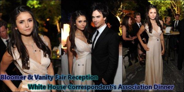 (28/04) Nina dans l'émission MTV'S The Seven + (31/04) Bloomberg & Vanity Fair Cocktail Reception et 2011 White House Correspondents' Association Dinner