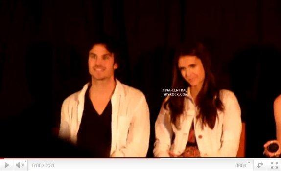 Nina à la convention Mystic Love de Nîmes aux cotés de Ian, Candice et Michael