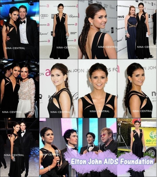 26 février 2012: Nina au Elton John AIDS Foundation