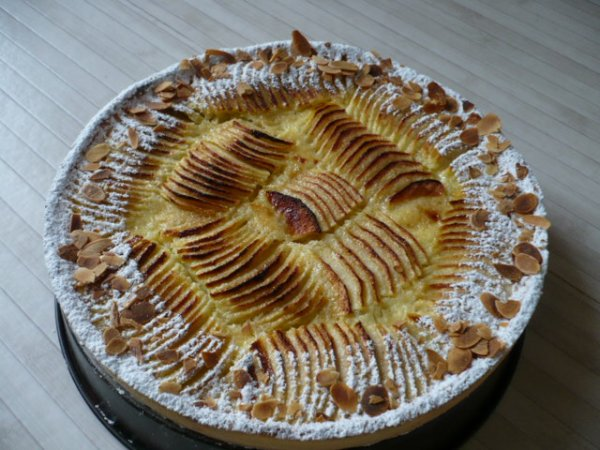 TARTE AUX POMMES NORMANDE a ma facon: