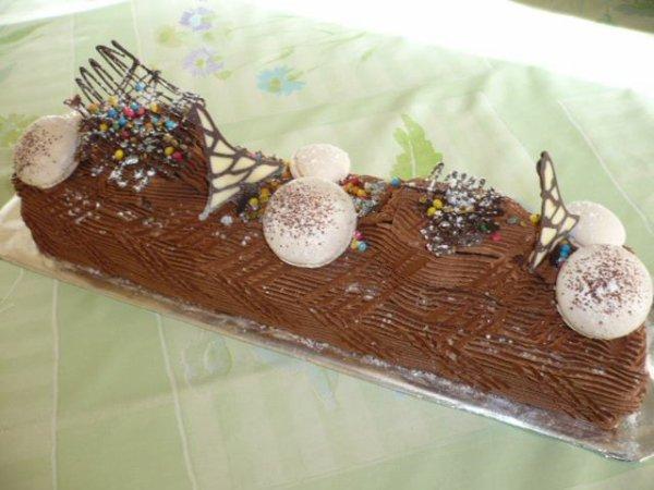 BUCHE GANACHE CHOCOLAT NOIR