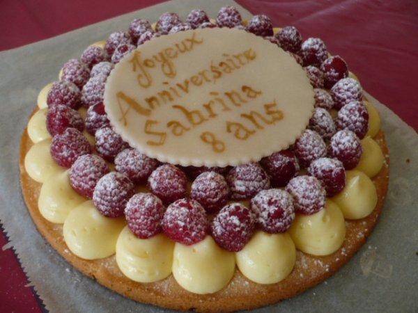 tarte au framboise sur sablé breton