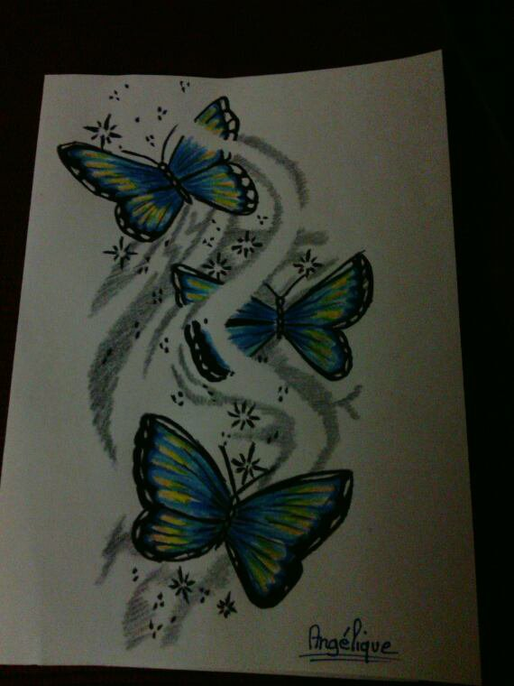 Dessin papillons