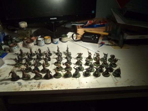 Voici tous mes soldats (il y en a que je n'ai pas fini).