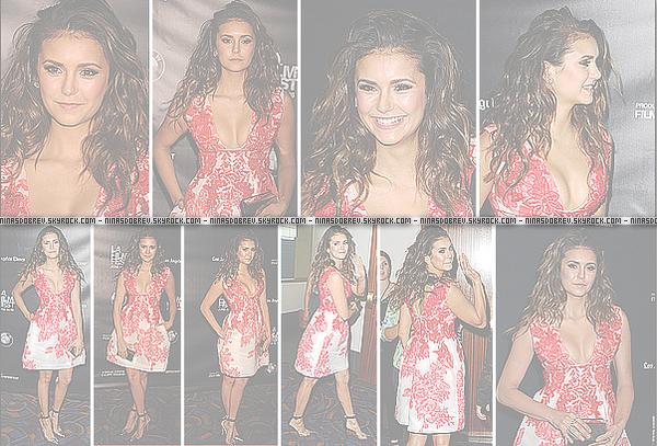 ► 16 Juin 2015 - L.A Film Festival | Los Angeles Nina s'est rendue au Festival du film à l'occasion de la diffusion de The Final Girls où Nina détient un rôle. Je la trouve merveilleuse !