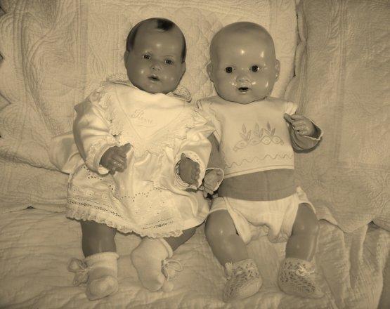 Pour   poupeemod-ELLE  les 2   bébés..............