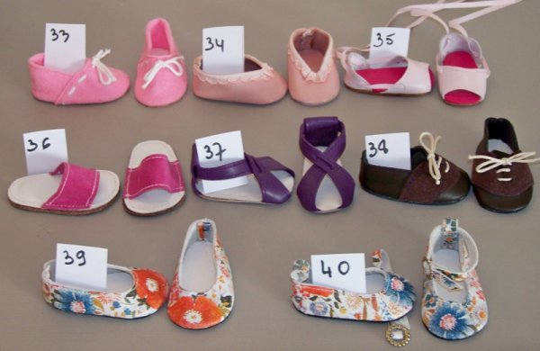 Pour accéder à de nombreuses demandes, j'ai numéroté les chaussures