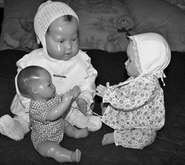 Mes 3 nouveau-nés  vous souhaitent un bon lundi