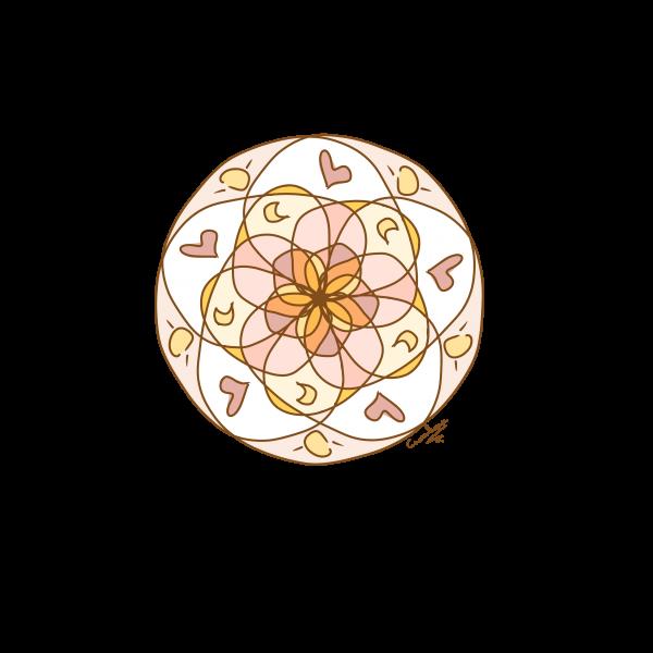 petite rosace à la rache
