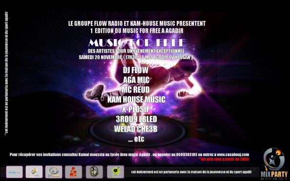Mc Reud a Inviter Sur Scène MUSIC FOR FREE