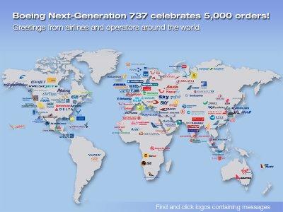 tte les commandes de 737 nextgen dans le monde !