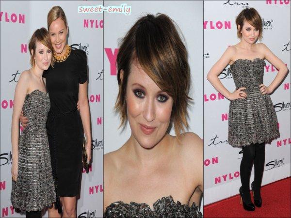 """Emily Browning à la soirée pour le 12 ème anniversaire de  """" Nylon """" le 24 mars 2011 / Emily au K&B Podcast le 25 mars 2011 + divers vidéo des dernières news !"""