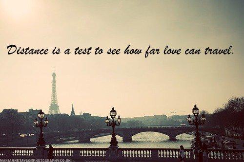 Loin des yeux, mais près du coeur..
