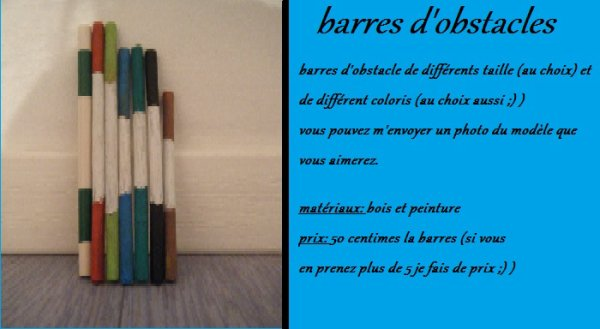 barres d'obstacles