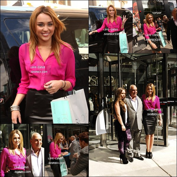 Miley à l'inauguration d'un Topshop à Chicago