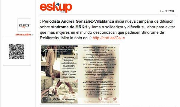 Periodista Andrea González-Villablanca se une a campaña #Beijing20 de ONU Mujeres y exige respeto hacia pacientes con MRKH