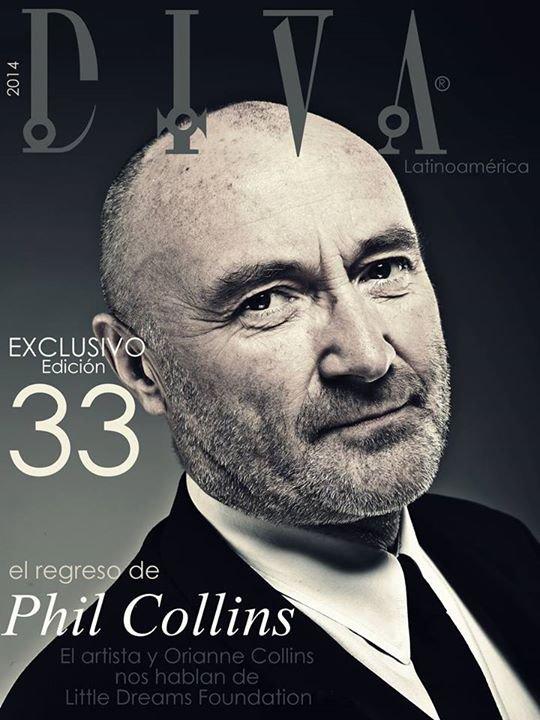 Periodista Andrea González-Villablanca entrevista a Phil Collins para DIVA Latinoamérica
