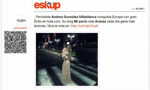 Periodista Andrea González-Villablanca celebra un año como exitosa blogger en hola.com