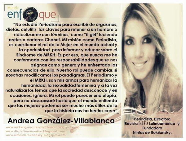 """Periodista Andrea González-Villablanca critica contenido de revistas femeninas y conceptos como """"it girls"""""""