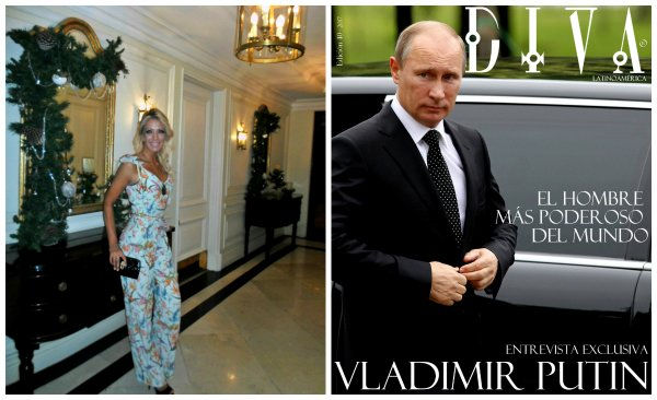 Periodista Andrea González-Villablanca entrevista a Vladimir Putin