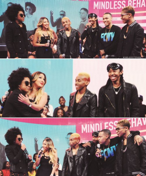 mindless behavior and adrienne bailon, bow wow