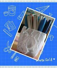 Petit pot recyclé en pot à crayons