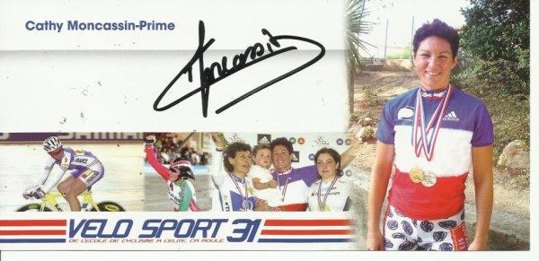 cathy  moncassin  7  fois  championne de france de cycliste sur piste