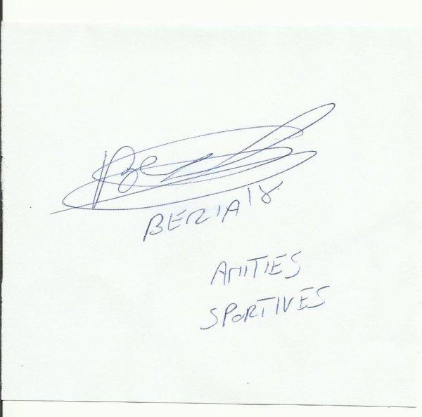 autographe de franck beria  joueur du losc