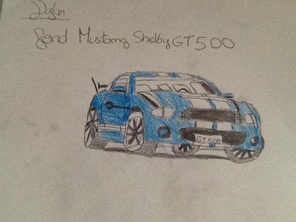 J ai dessiner une Shelby GT 500