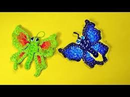 Papillons en élastique.