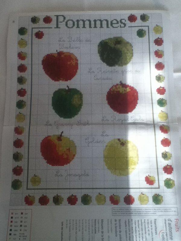 grille  N°5 pommes