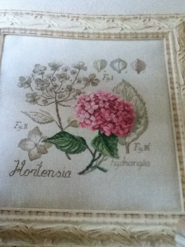 grille  N° 7 l'hortensia