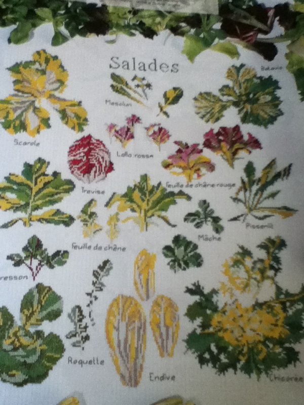 grille  N° 9 la ronde des salades