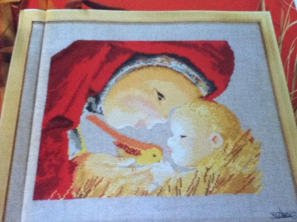 grille  N° 45 la vierge et l'enfant N°2